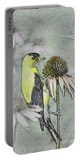 Bird Eating Seeds For One Digital Art Portable Battery Charger