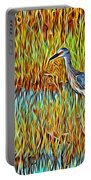 Bird In The Reeds Portable Battery Charger
