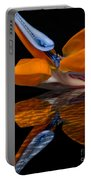 Bird Of Paradise Reflective Pool Portable Battery Charger