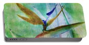 Bird Of Paradise Watercolor Portable Battery Charger