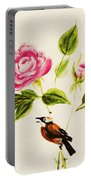 Bird On A Flower Portable Battery Charger