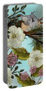 Bird On Pine Branch Portable Battery Charger