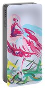 Bird Red Ibis Portable Battery Charger