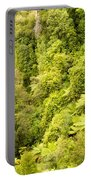 Bird View Of Lush Green Sub-tropical Nz Rainforest Portable Battery Charger