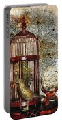 Birdcage Brass Bird And Carved Stone  Portable Battery Charger