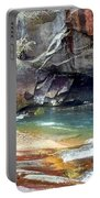 Birdrock Waterfall In Spring 2 Portable Battery Charger