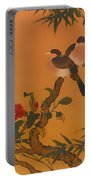 Birds Bamboo And Camellias Portable Battery Charger