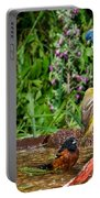 Birds Bathing Portable Battery Charger
