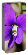 Birds Foot Violet Portable Battery Charger
