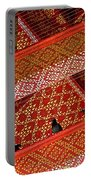 Birds In Rafters Of Royal Temple At Grand Palace Of Thailand  Portable Battery Charger