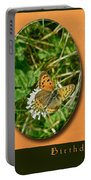 Birthday Greeting Card - American Copper Butterfly Portable Battery Charger