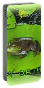 Birthday Greeting Card - Bullfrog On Lily Pad Portable Battery Charger
