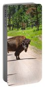 Bison Blocking The Road Portable Battery Charger
