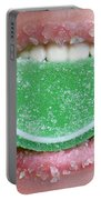 Biting Into Candy Lime Portable Battery Charger
