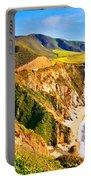 Bixby Creek Bridge Oil On Canvas Portable Battery Charger