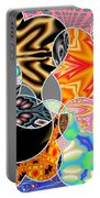 Bizzarro Colorful Psychedelic Floral Abstract Portable Battery Charger