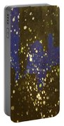 Black And Blue Splatter Portable Battery Charger