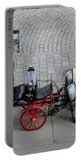 Black And Red Horse Carriage - Vienna Austria  Portable Battery Charger