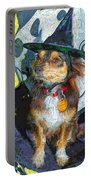 Black And Tan Chihuahua - Such A Good Little Witch Portable Battery Charger