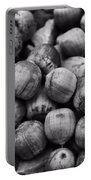 Black And White Acorns Portable Battery Charger