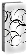 Black And White Art - 133 Portable Battery Charger
