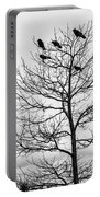 Black And White Blackbirds  Portable Battery Charger