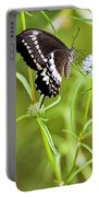 Black And White Butterfly Portable Battery Charger