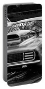Black And White Chevy Camaro Ss Hotrod Portable Battery Charger