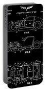 Black And White Corvette Patent Portable Battery Charger
