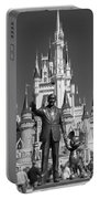 Black And White Disney And Mickey Portable Battery Charger