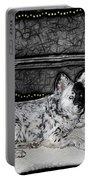 Black And White Dog Portable Battery Charger