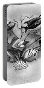 Black And White Fish 1  Portable Battery Charger