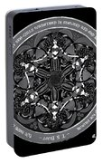 Black And White Gothic Celtic Mermaids Portable Battery Charger