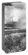 Black And White Meadow Portable Battery Charger