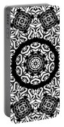 Black And White Medallion 10 Portable Battery Charger