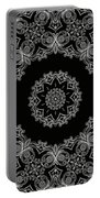 Black And White Medallion 6 Portable Battery Charger