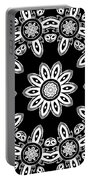 Black And White Medallion 8 Portable Battery Charger