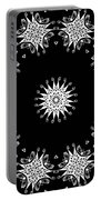 Black And White Medallion 9 Portable Battery Charger