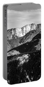 Black And White Mountains Portable Battery Charger