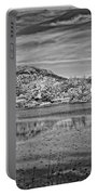 Black And White Photo Of Long Pond Acadia National Park Maine Portable Battery Charger