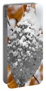 Black And White Snow Leaf Portable Battery Charger