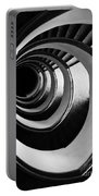 Black And White Spirals Portable Battery Charger