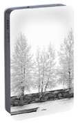 Black And White Square Diptych Tree 12-7693 Set 1 Of 2 Portable Battery Charger