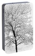 Black And White Square Tree  Portable Battery Charger