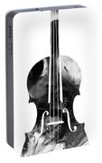 Black And White Violin Art By Sharon Cummings Portable Battery Charger