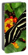 Black And Yellow Butterfly Portable Battery Charger
