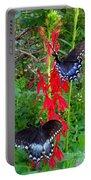 Black Butterflies Portable Battery Charger