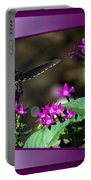 Black Butterfly 07 Portable Battery Charger