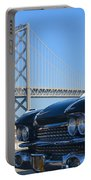 Black Cadillac In San Francisco Portable Battery Charger