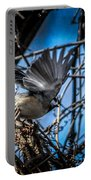 Black Capped Chickadee Start Of Flight Portable Battery Charger